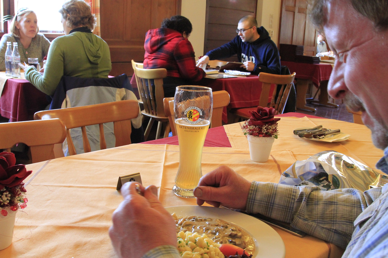 Lunch at the bottom of the hill... just visited Neuschwanstein Castle.