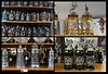 A composite of beer steins available in one store. This store had hundreds of steins and cuckoo clocks.