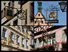 Composite of signs in Rothenburg, Germany