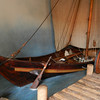 A reproduction of a Viking ship at the Viking Museum