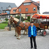 We toured the city in this horse drawn wagon