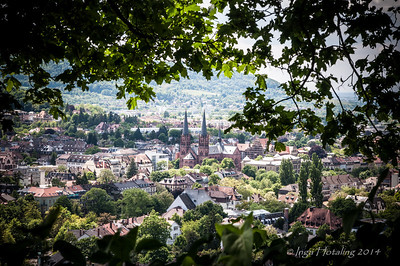 Freiburg, Germany - view from Schlossberg.
