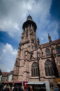 Freiburg, Germany - view from Schlossberg. Das Freiburger Muenster