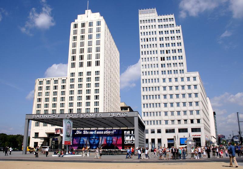 Ritz Carlton Hotel and Metro Station entrance Potsdamer Platz Berlin