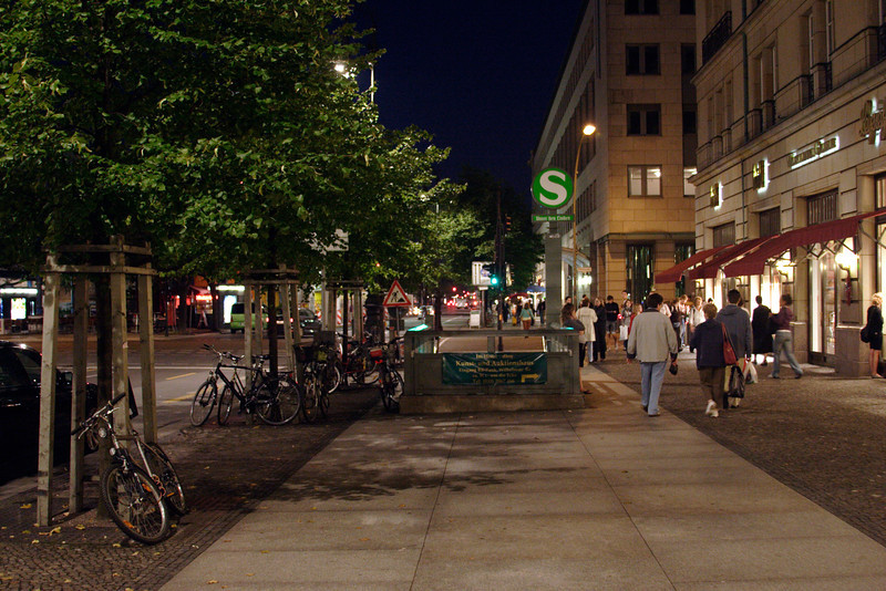 Unter den Linden Berlin at night