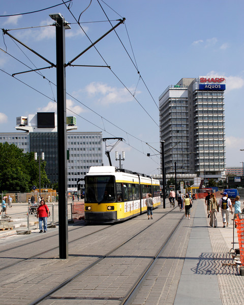 Tram in Alexanderplatz Berlin