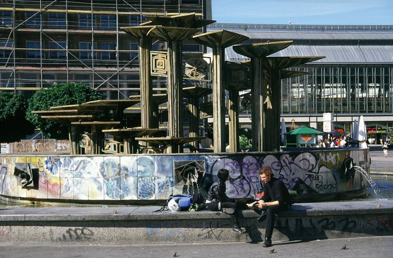Sculpture in Alexanderplatz Berlin