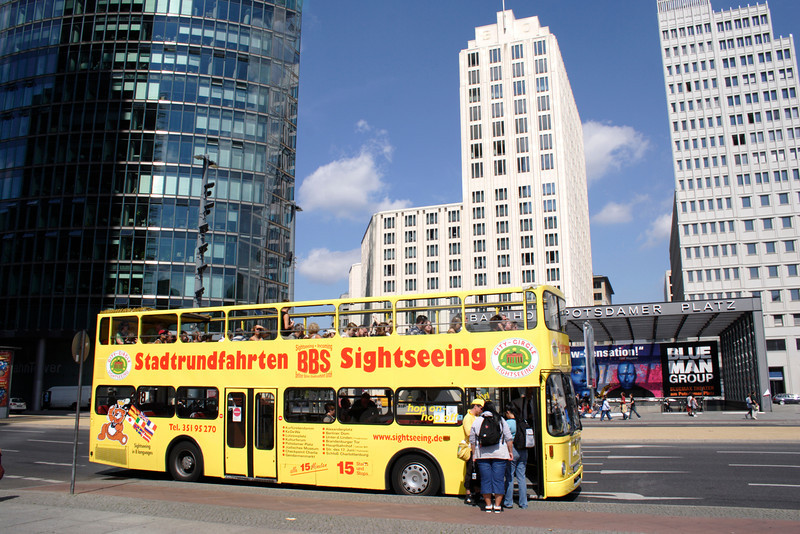 Tourist bus Potsdamer Platz Berlin August 2007