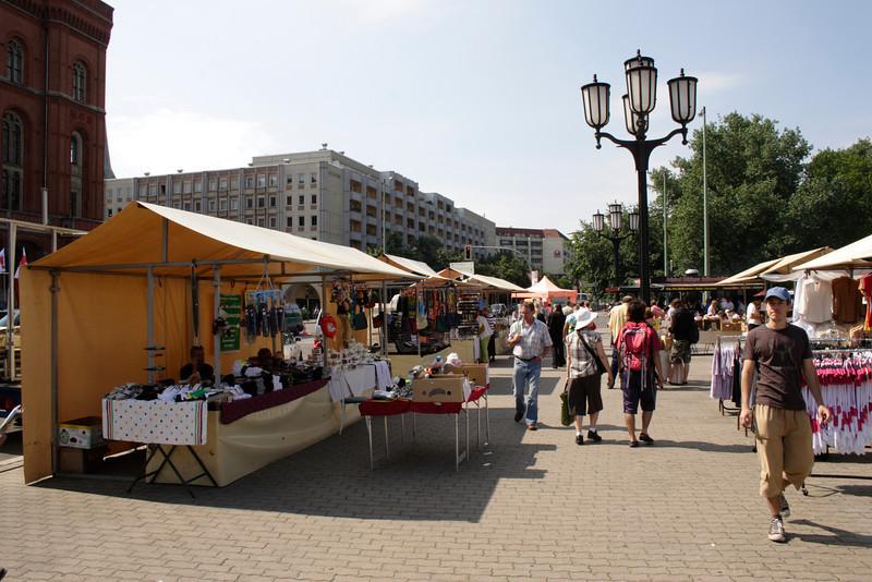 Street market near the Rotes Rathaus Berlin