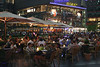 Cafe in Sony Centre Potsdamer Platz at night Berlin