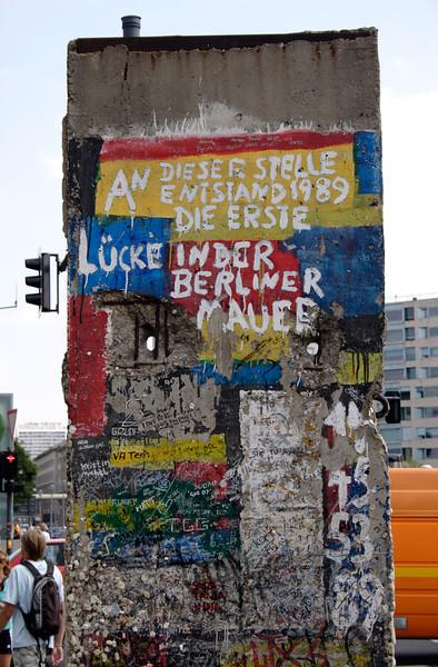 Fragment of The Berlin Wall Potsdamer Platz Berlin