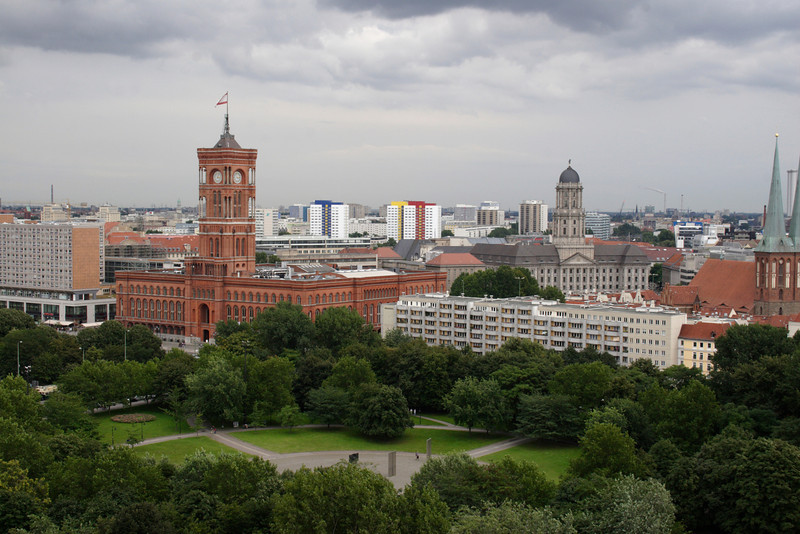Berlin skyline and Rotes Rathaus August 2007