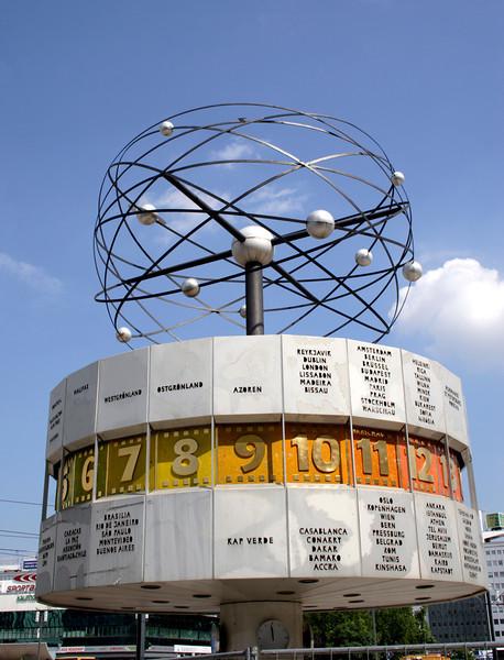 World Time Clock Alexanderplatz Berlin