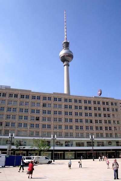 TV Tower and C & A Store Alexanderplatz Berlin