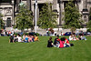 Young Berliners relaxing near the Berliner Dom Berlin August 2007
