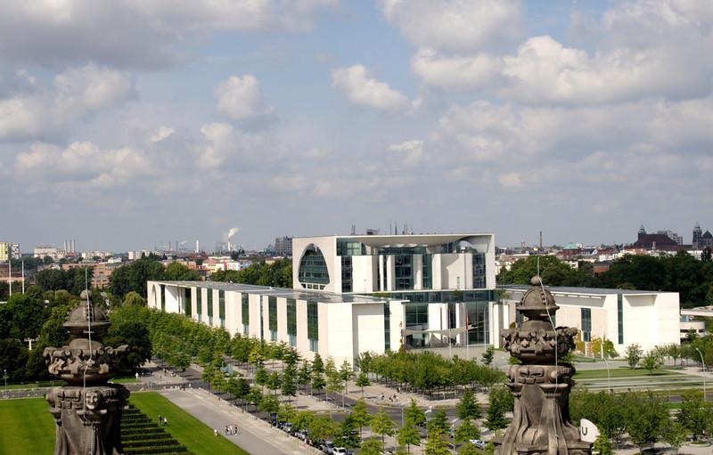 Aerial view of Bundeskanzleramt Federal Chancellery Berlin