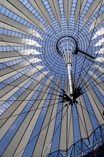 Roof of the Sony Centre Potsdamer Platz Berlin