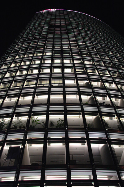 Deutsche Bahn Head Office Potsdamer Platz at night Berlin