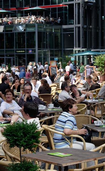 Cafe in Sony Centre Potsdamer Platz Berlin