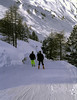 Cross country ski piste near Mayrhofen Austria