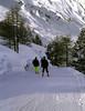 Cross country ski piste near Mayrhofen Austria