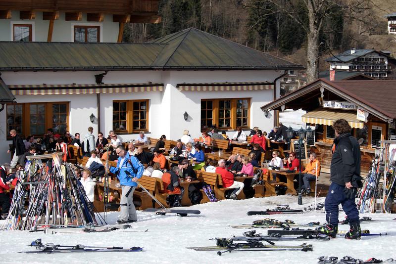 Cafe at Hinterglemm ski resort Austria  March 2007