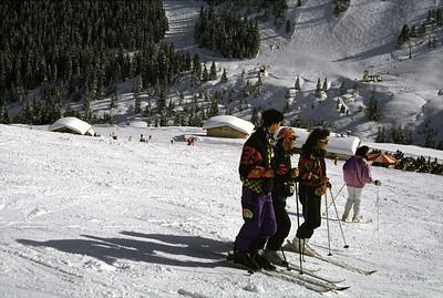 ski piste near Mayrhofen Austria