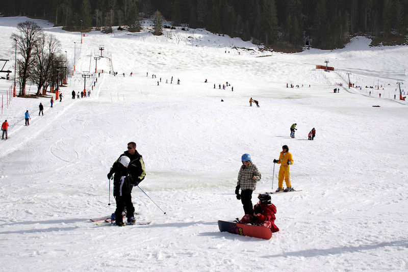 Nursery slope at Hinterglemm ski resort Austria March 2007