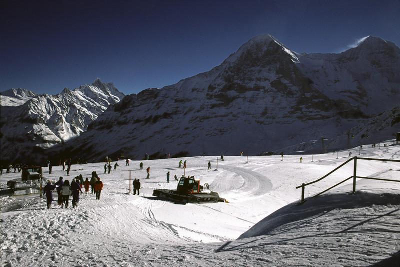Ski piste near Wengen ski resort