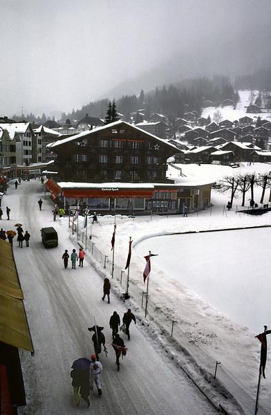 Wengen ski resort Switzerland