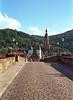 On the bridge over the Neckar River Heidelberg