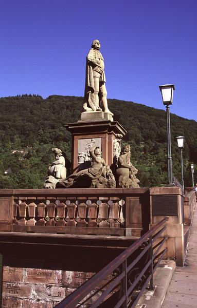 Statue on bridge Heidelberg