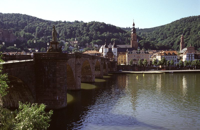 Bridge over the Neckar River Heidelberg