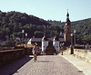 On the bridge over the Neckar River Heidelberg