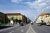 Odeonsplatz Munich statue of King Ludwig I on left