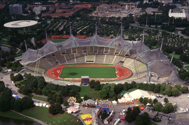 Stadium at the Olympic Park Munich