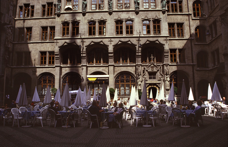 Cafe in New Town Hall courtyard Munich
