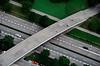 Pedestrian bridge over autobahn Munich