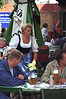 Traditional waitress in Munich Beer Garden