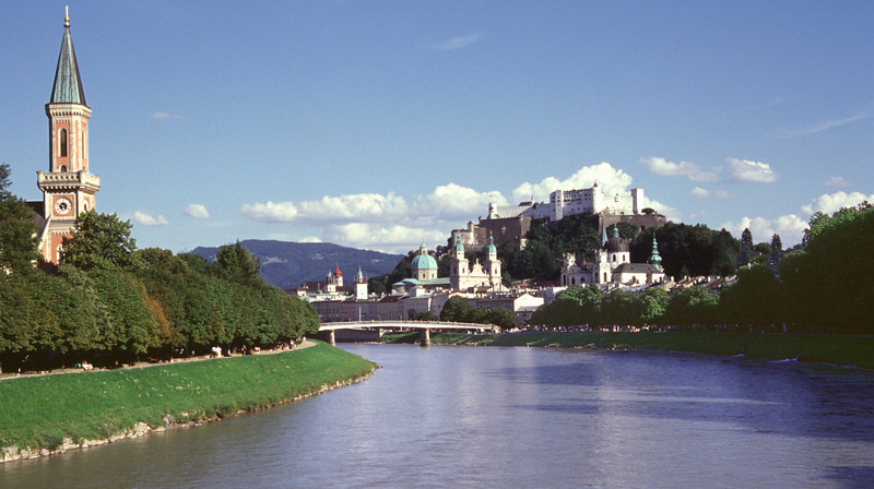 Salzburg on the Salzach River