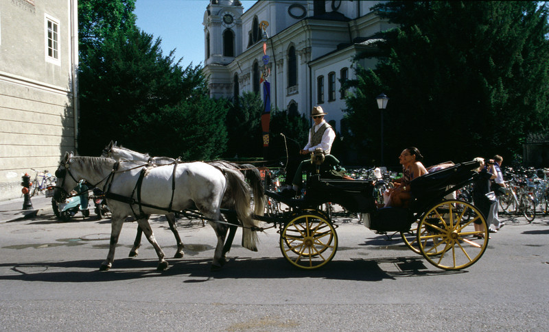Horses and carriage Salzburg Austria