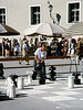 Man playing outdoor chess in Salzburg