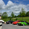 Porsche Racing Bear photo bombing some Porsches on the German Alpine Road