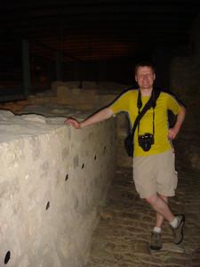 Michal inside the Bock Casements.