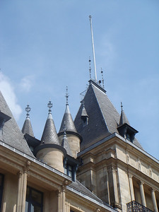 The roofline of the Palace of the Grand Dukes in Luxembourg.