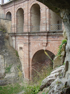 The bridge of the Bock Casements, which include various passageways in case the bridge was destroyed.