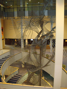 A giant sculpture from the EU Parliament tour, which consisted of two stops.