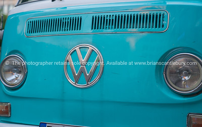 VW kombi van front with emblem