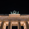 Historic  Brandenburg Gate illuminated at night