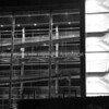 Architectural abstract structural elements with stairs, ramps and facade in monochrome